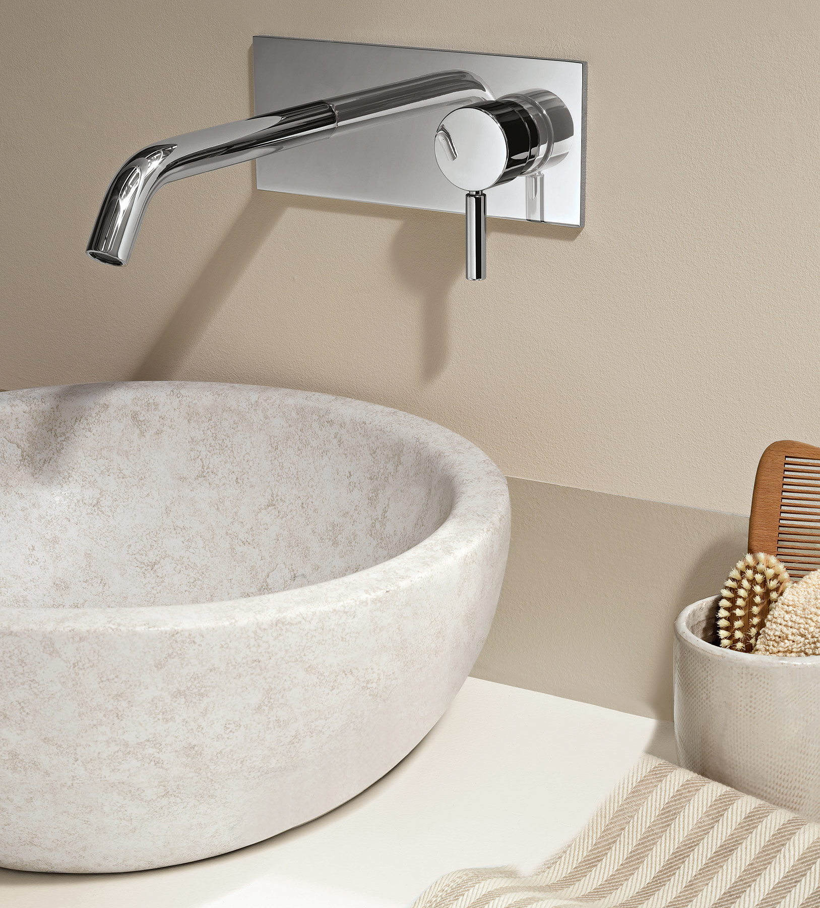 Small wall mount faucet - Transitional Nostromo Small Wall Mount Faucet