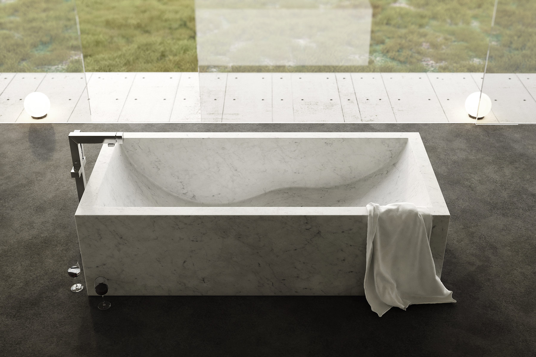 Contemporary Onda Freestanding Bathtub