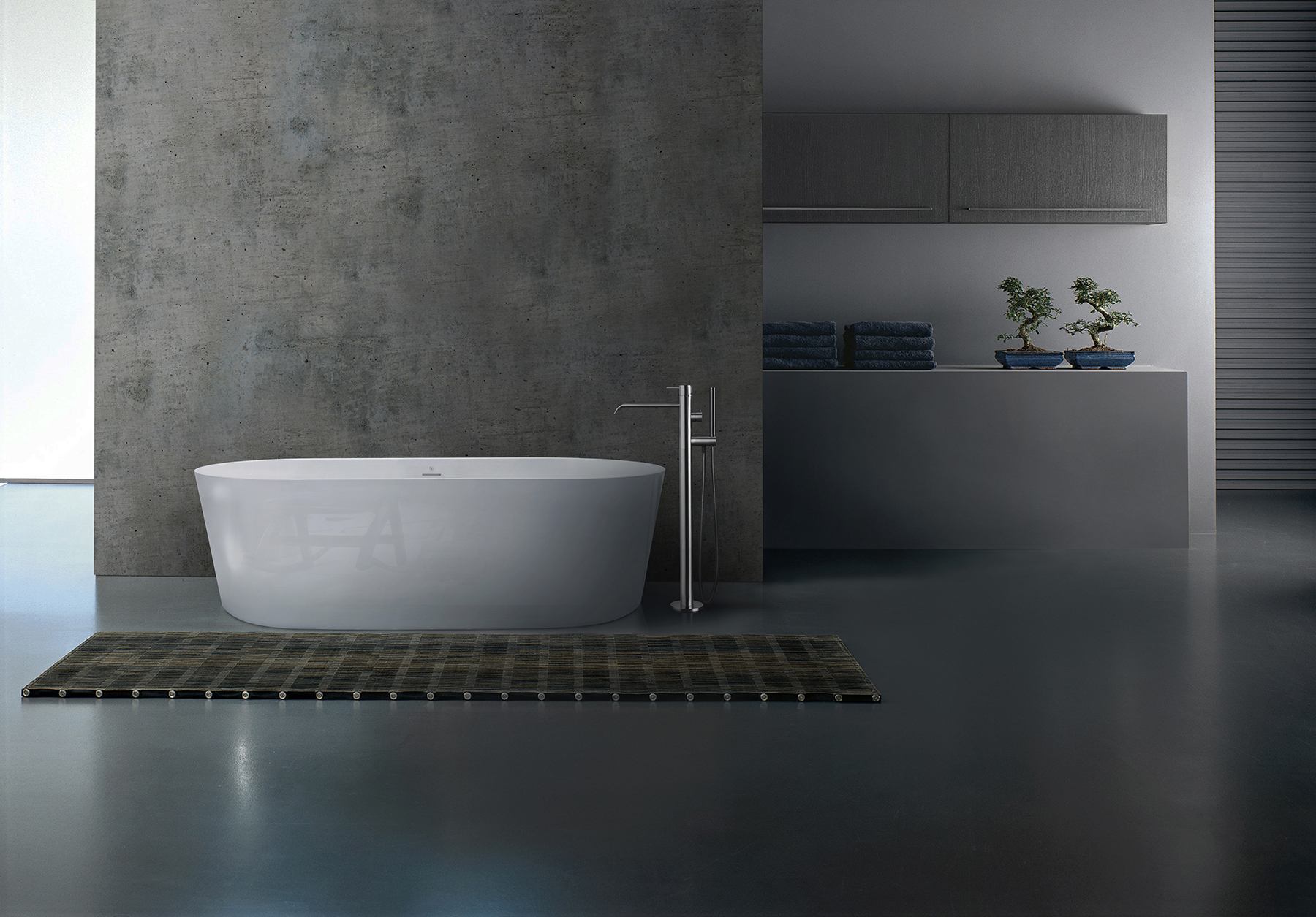 Modern Pisa Freestanding Oval Bathtub