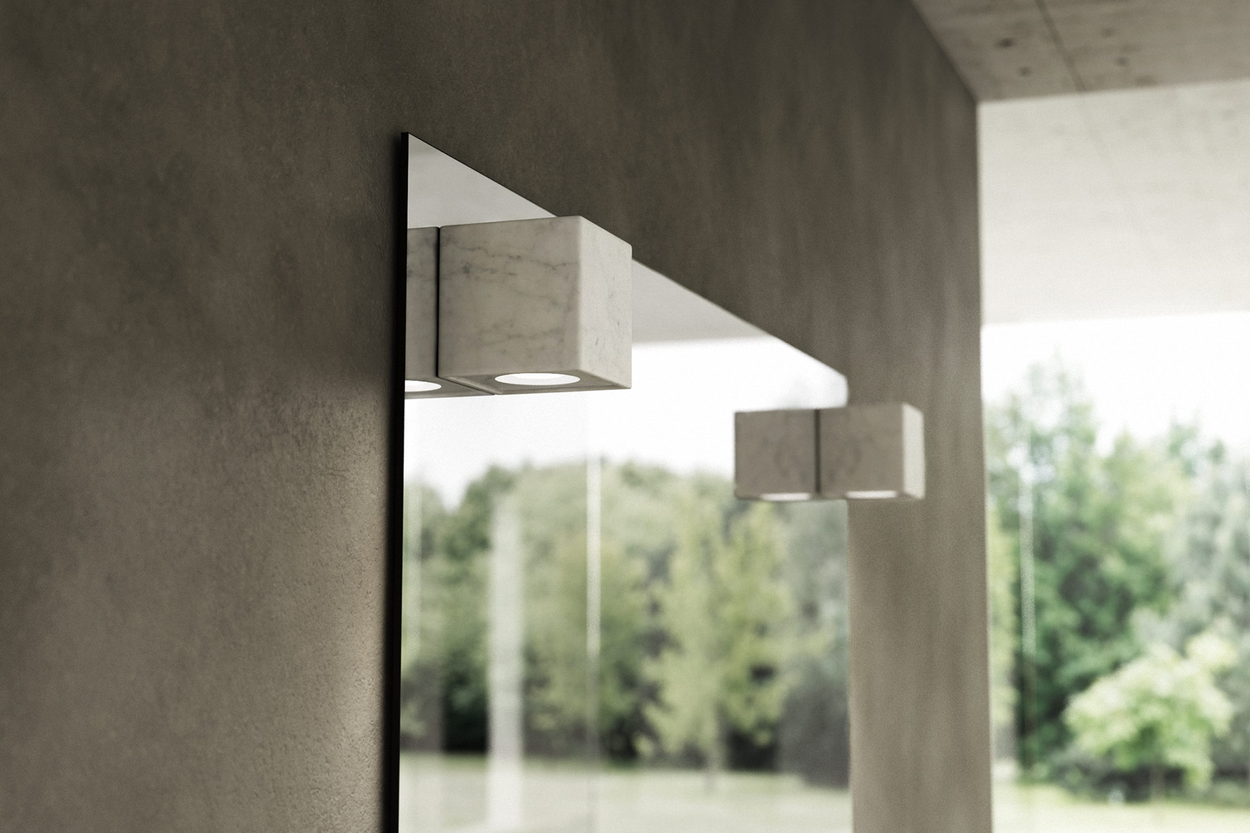 Transitional Quadro Wall Mounted Mirror