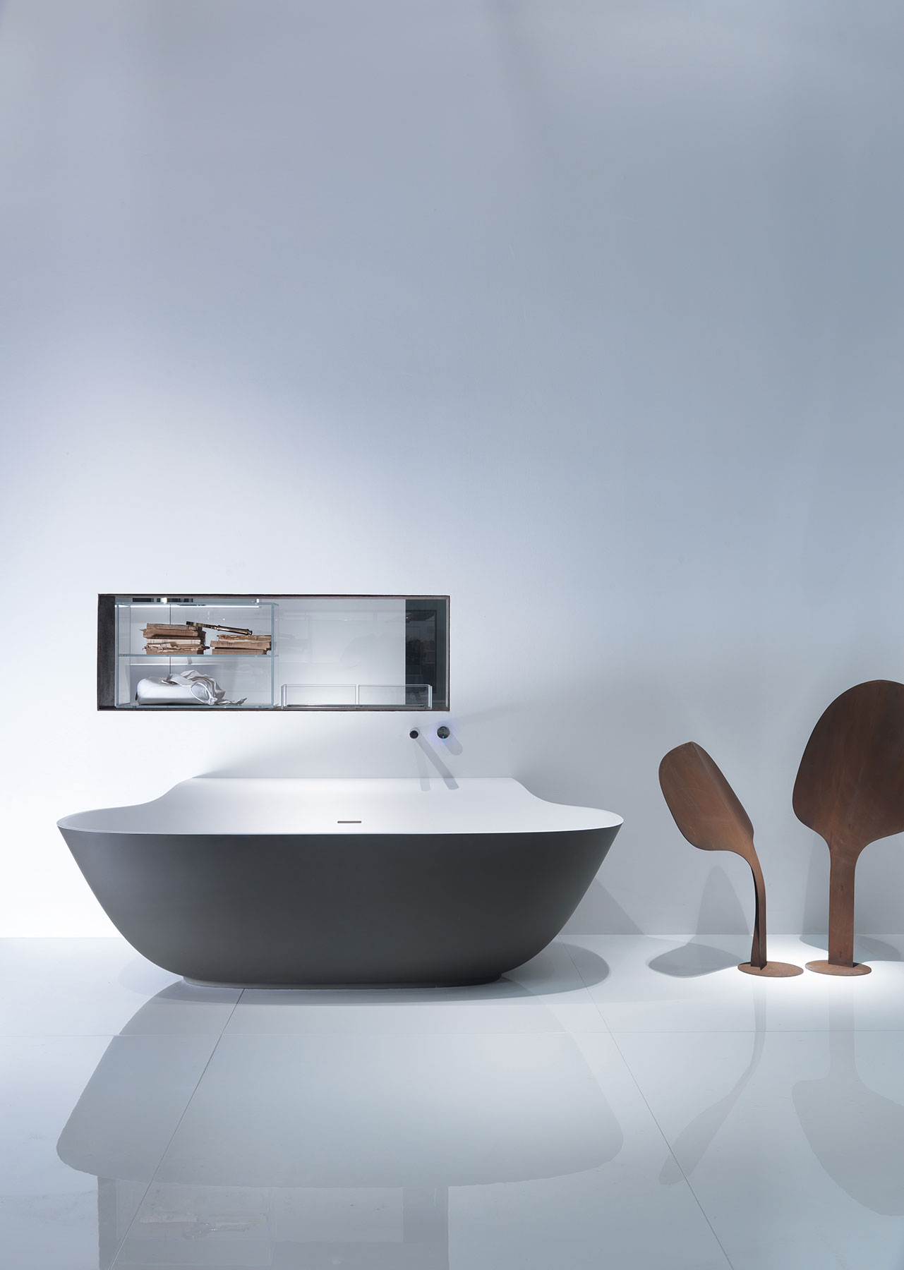 Transitional Scoop Freestanding Bathtub