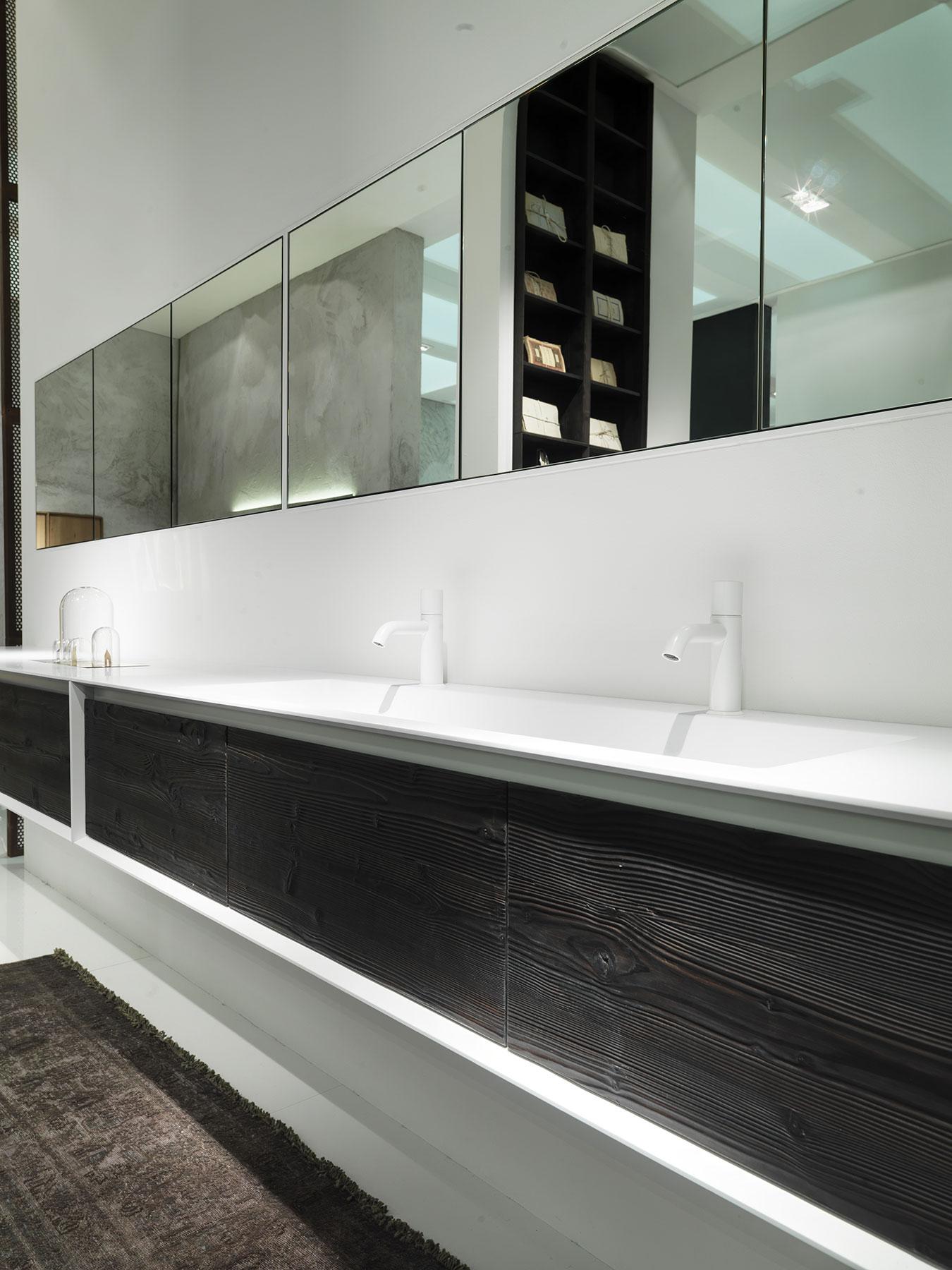 Modern Shape Evo Wall Mount Vanity Unit