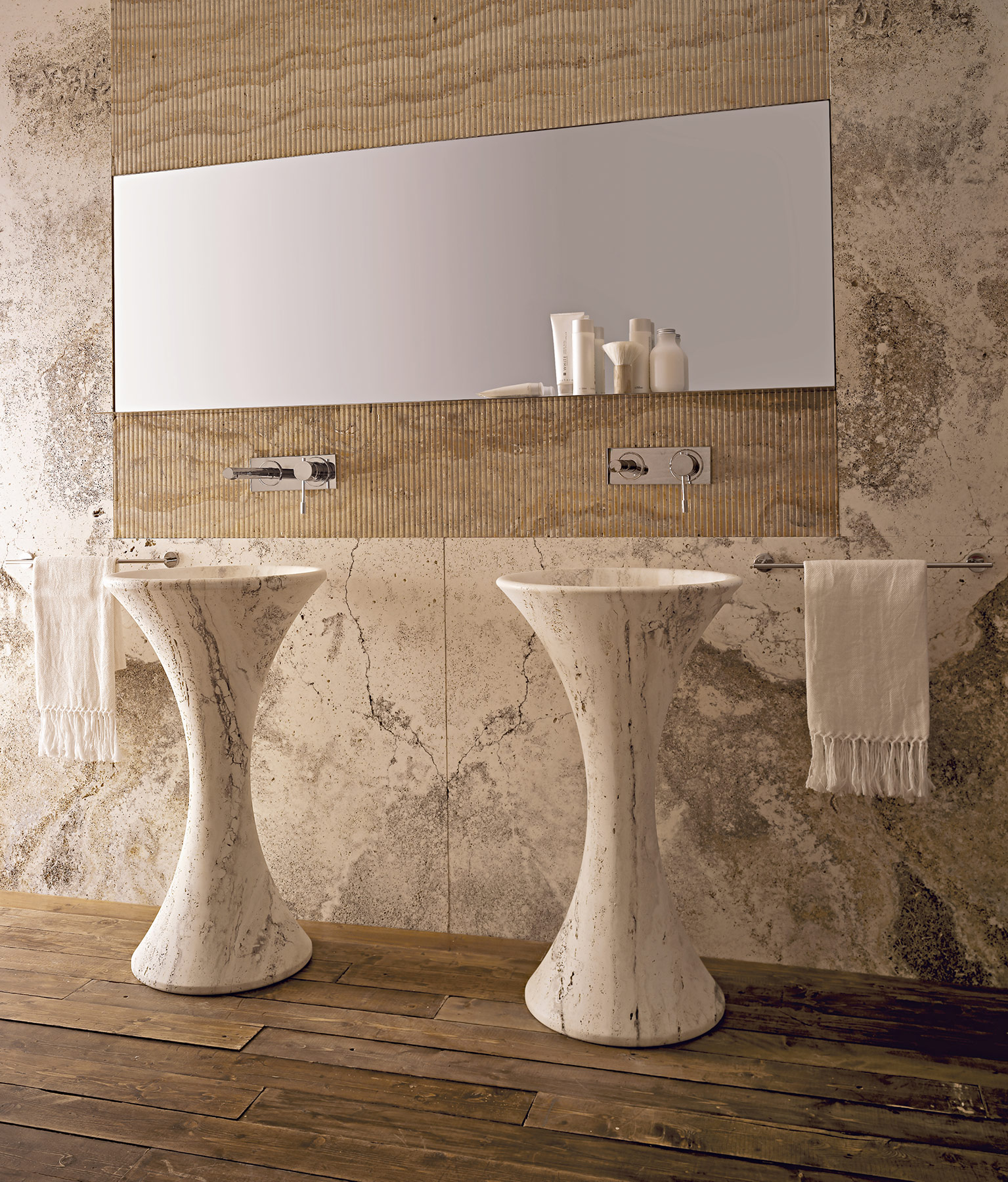 Modern Slim Freestanding Washbasin