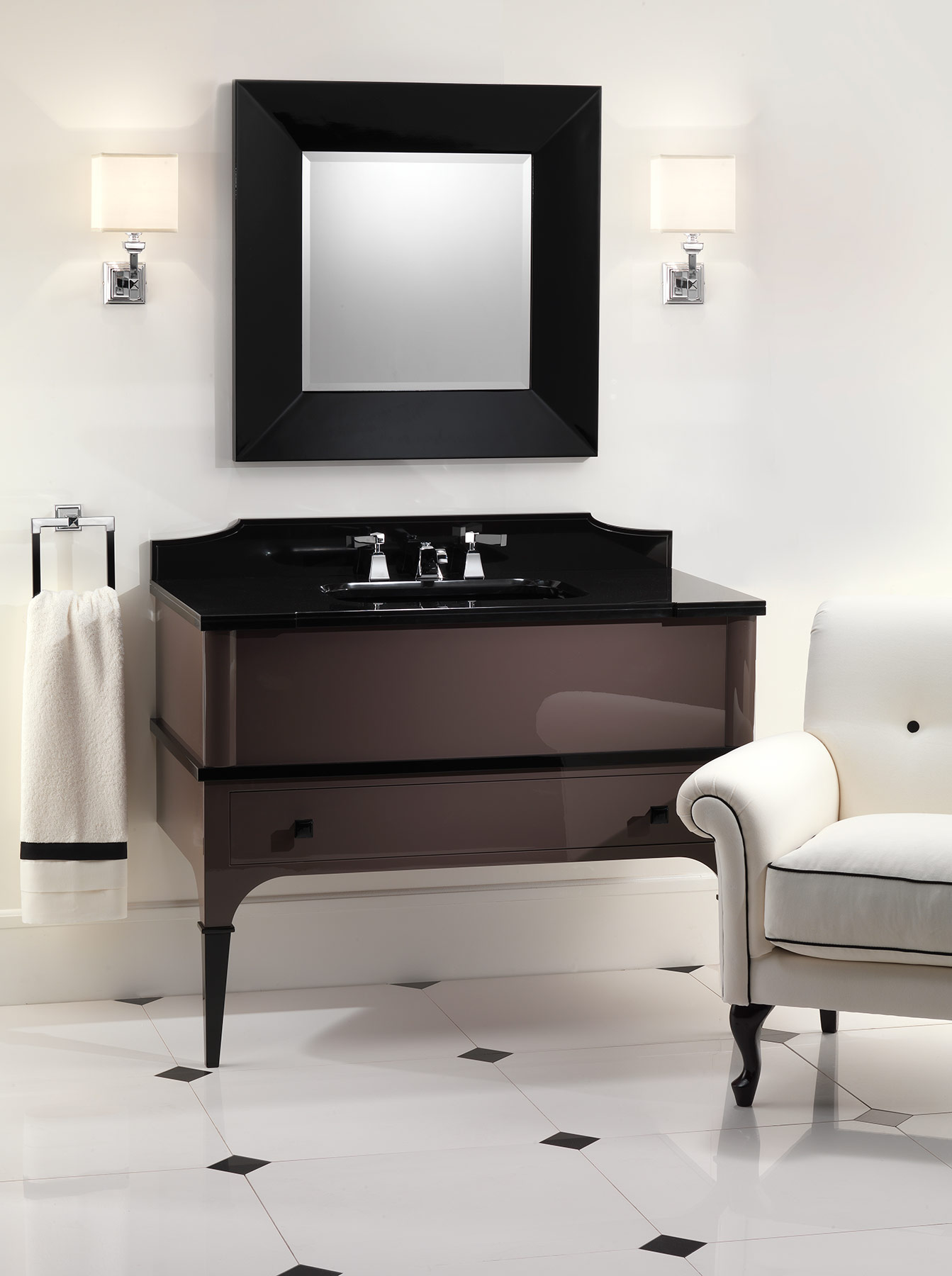 Transitional Suite Wall Mount Vanity Unit