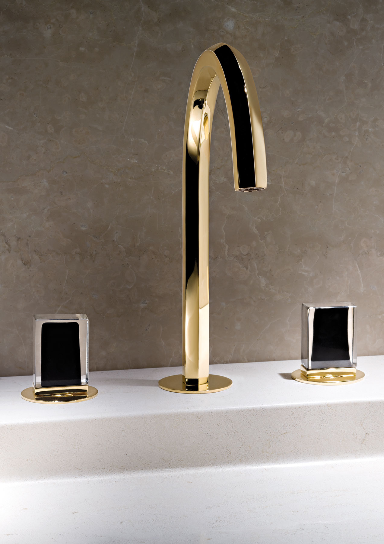 Contemporary Venezia Deck Mount Faucet
