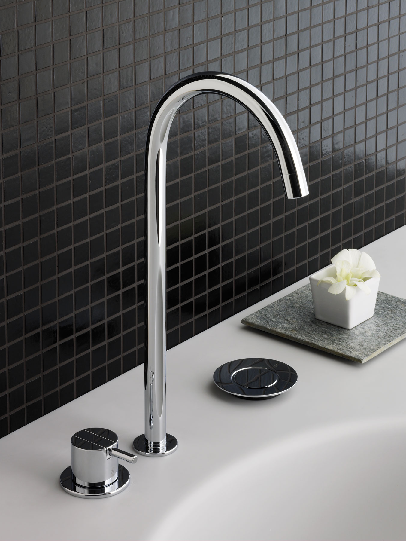 Transitional Vola Deck Mount Faucet