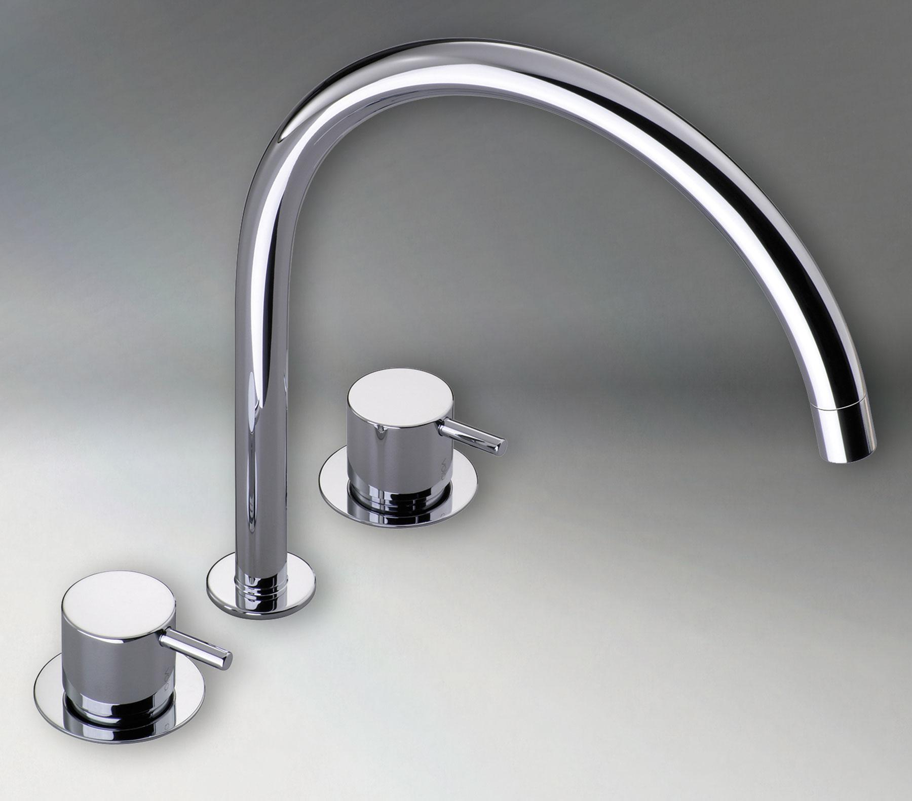 Transitional Vola Deck Mount Faucet