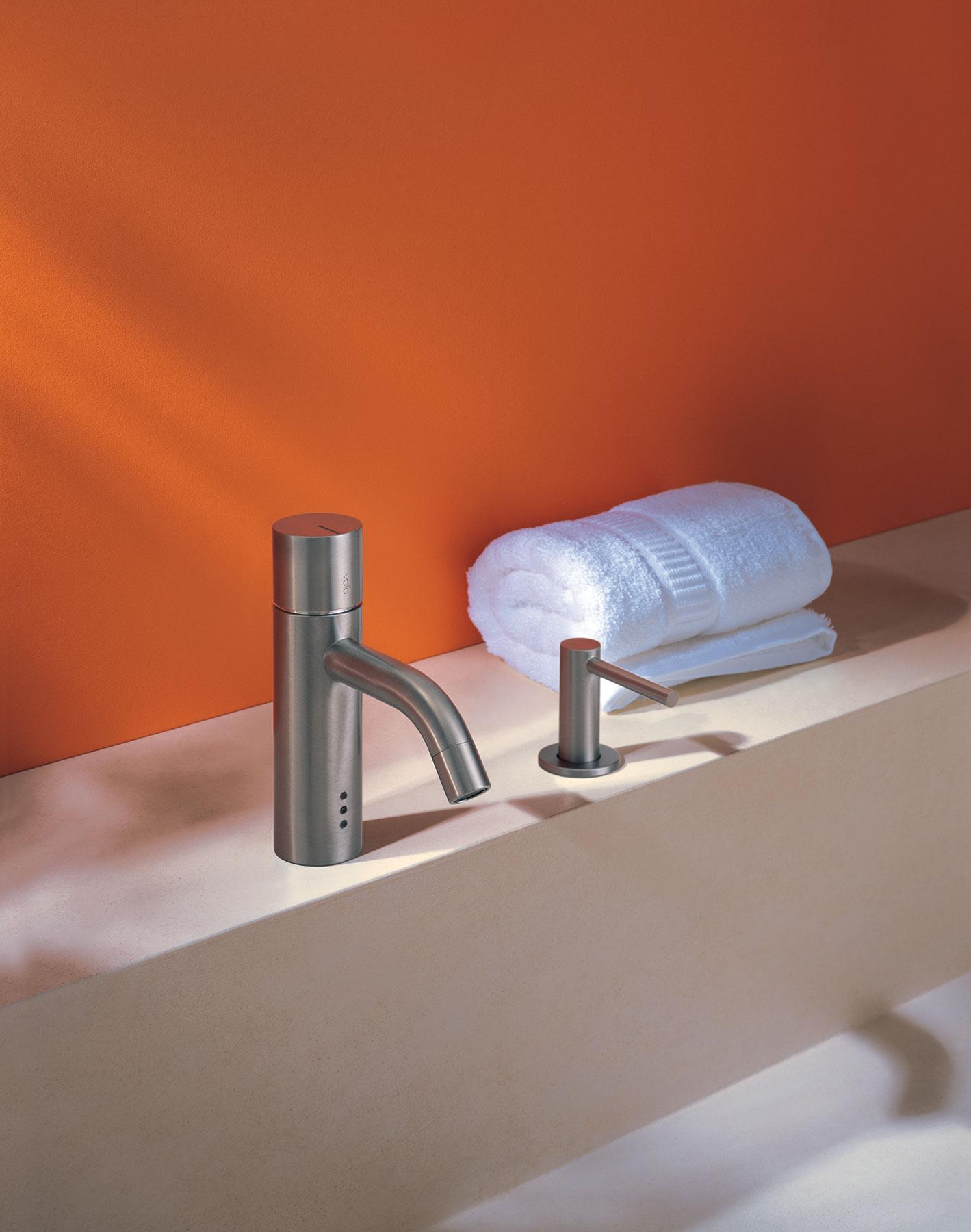 Transitional Vola Deck Mount Faucet Set