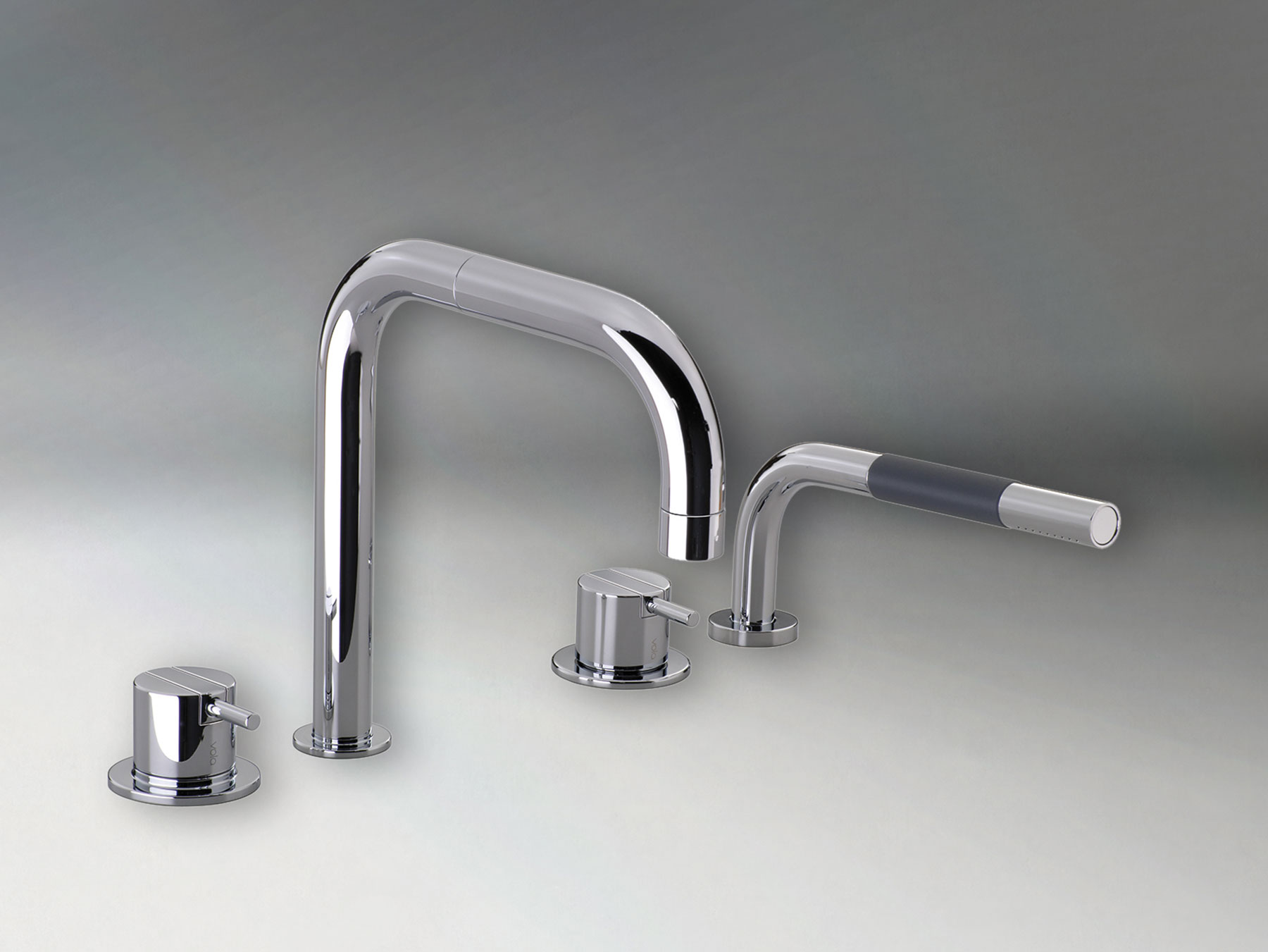 Transitional Vola Deck Mount Tub Faucet