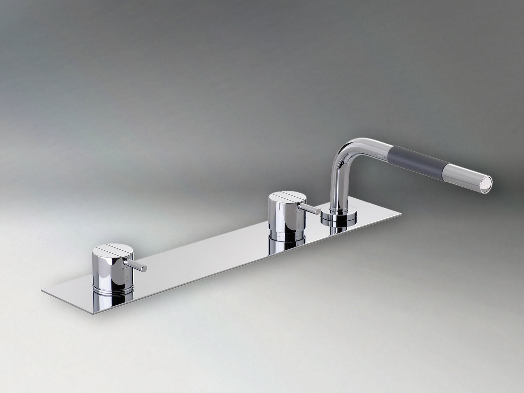 Transitional Vola Deck Mount Tub Mixer