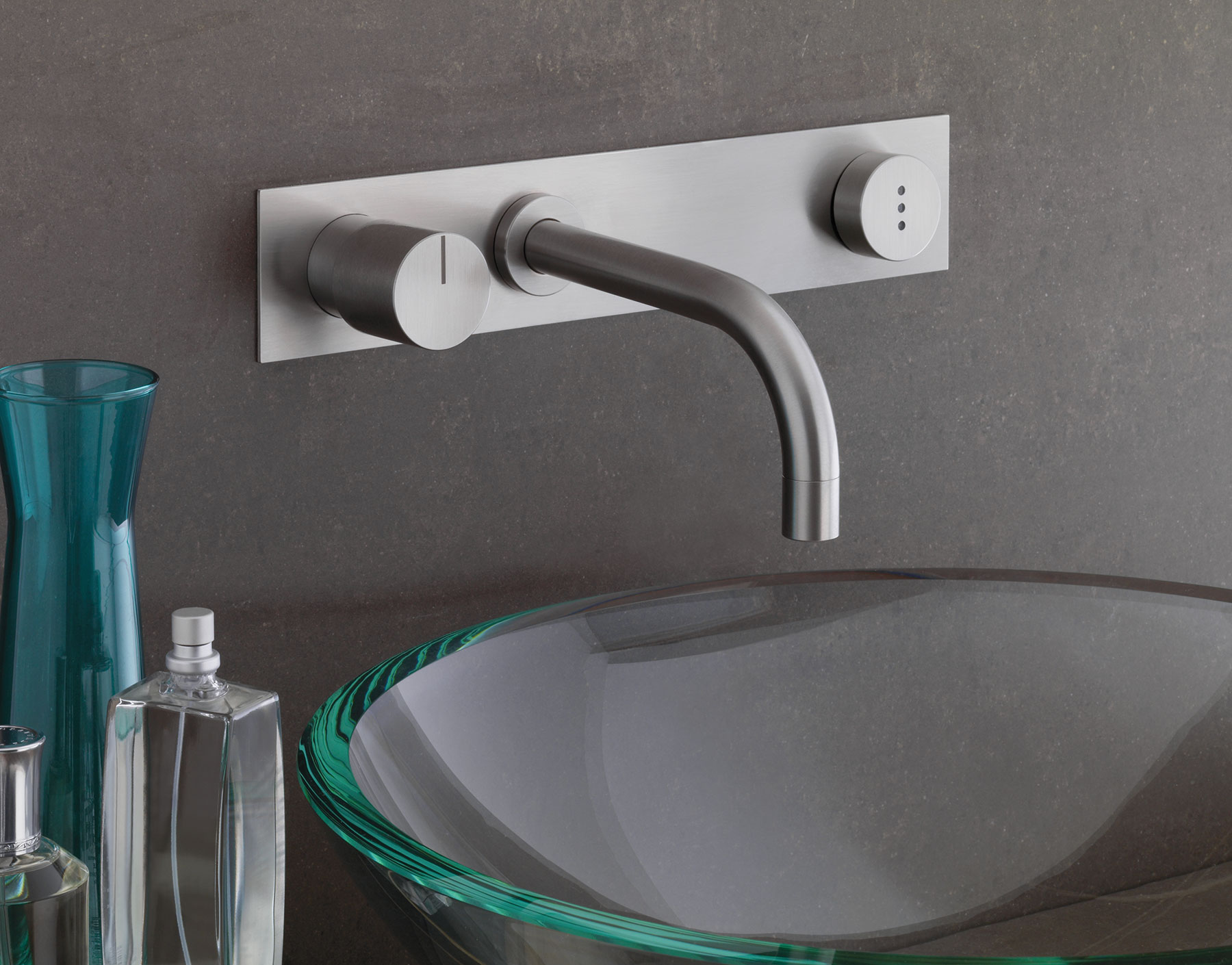 Transitional Vola Wall Mount Faucet Set