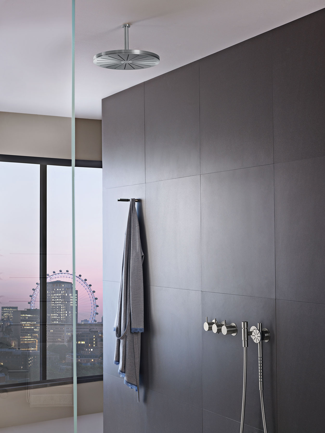 Transitional Vola Wall Mount Shower Set